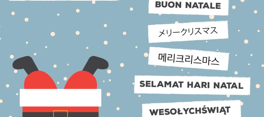 Tradições de Natal em vários lugares do Mundo. Como dizer Feliz Natal em diferentes línguas.