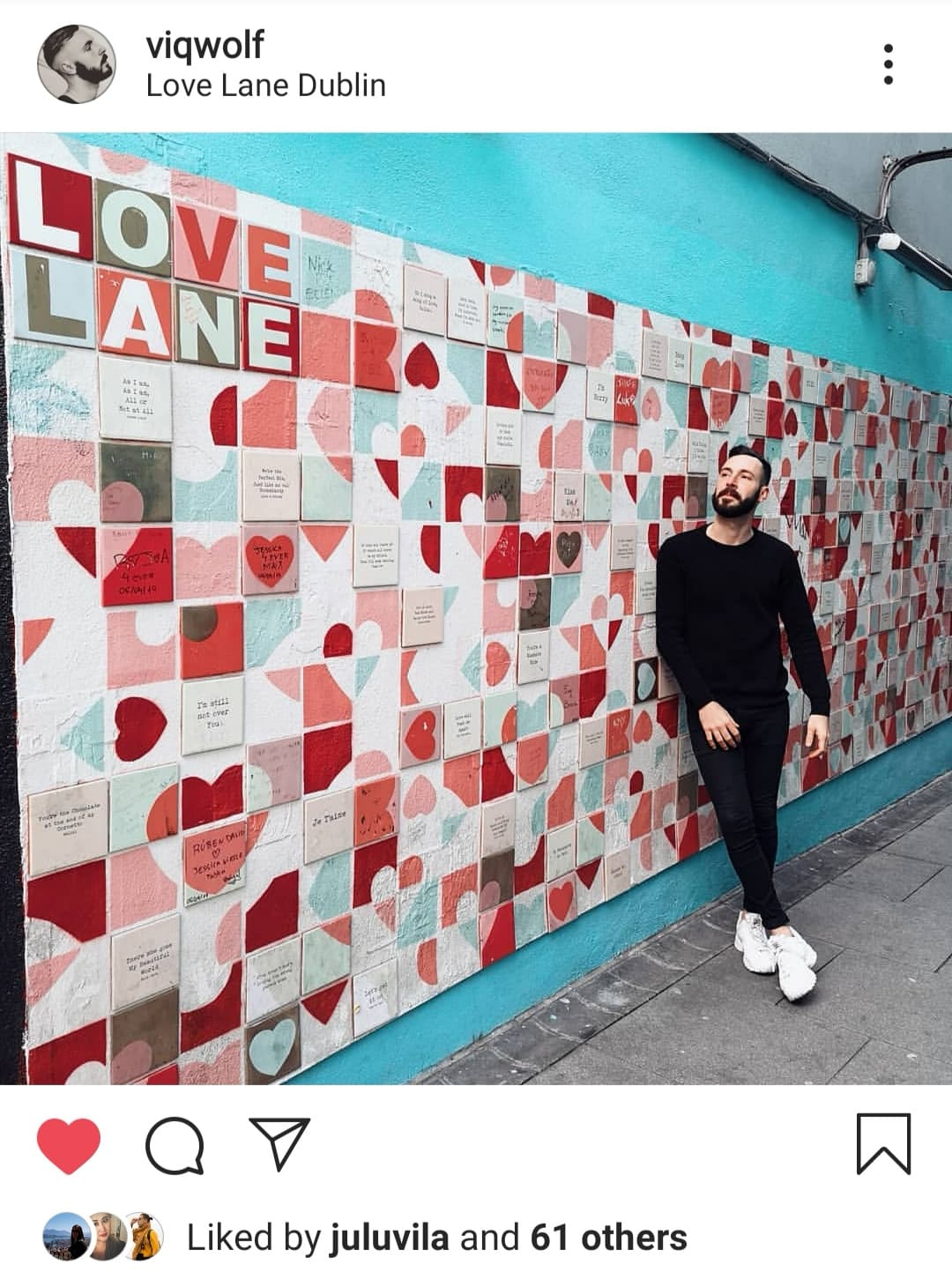 The Love Lane is a beautiful street art mural.