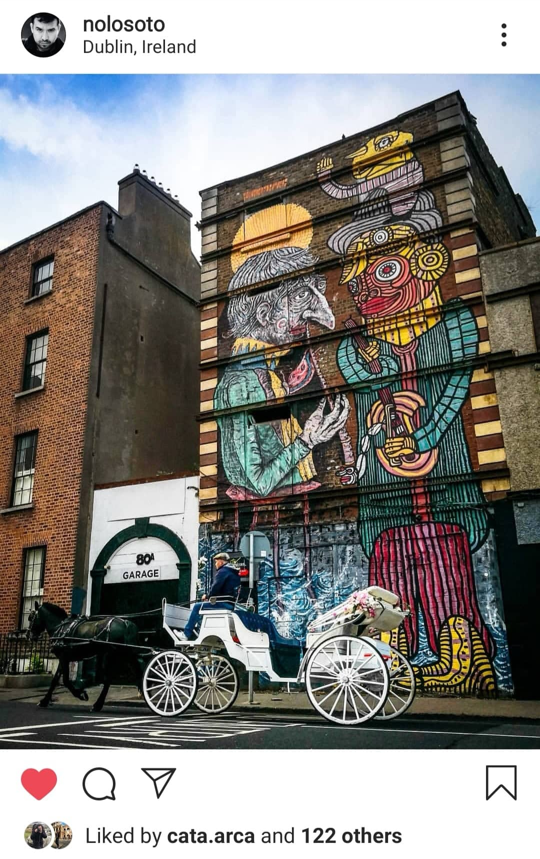 Smithfield is full of street art and is very close to the city centre.