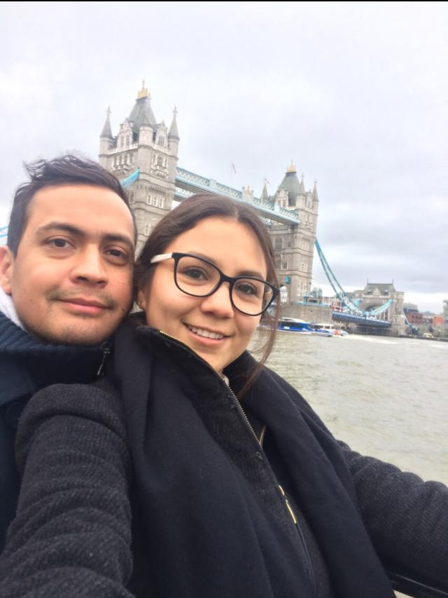 Mauricio and Alejandra in London.