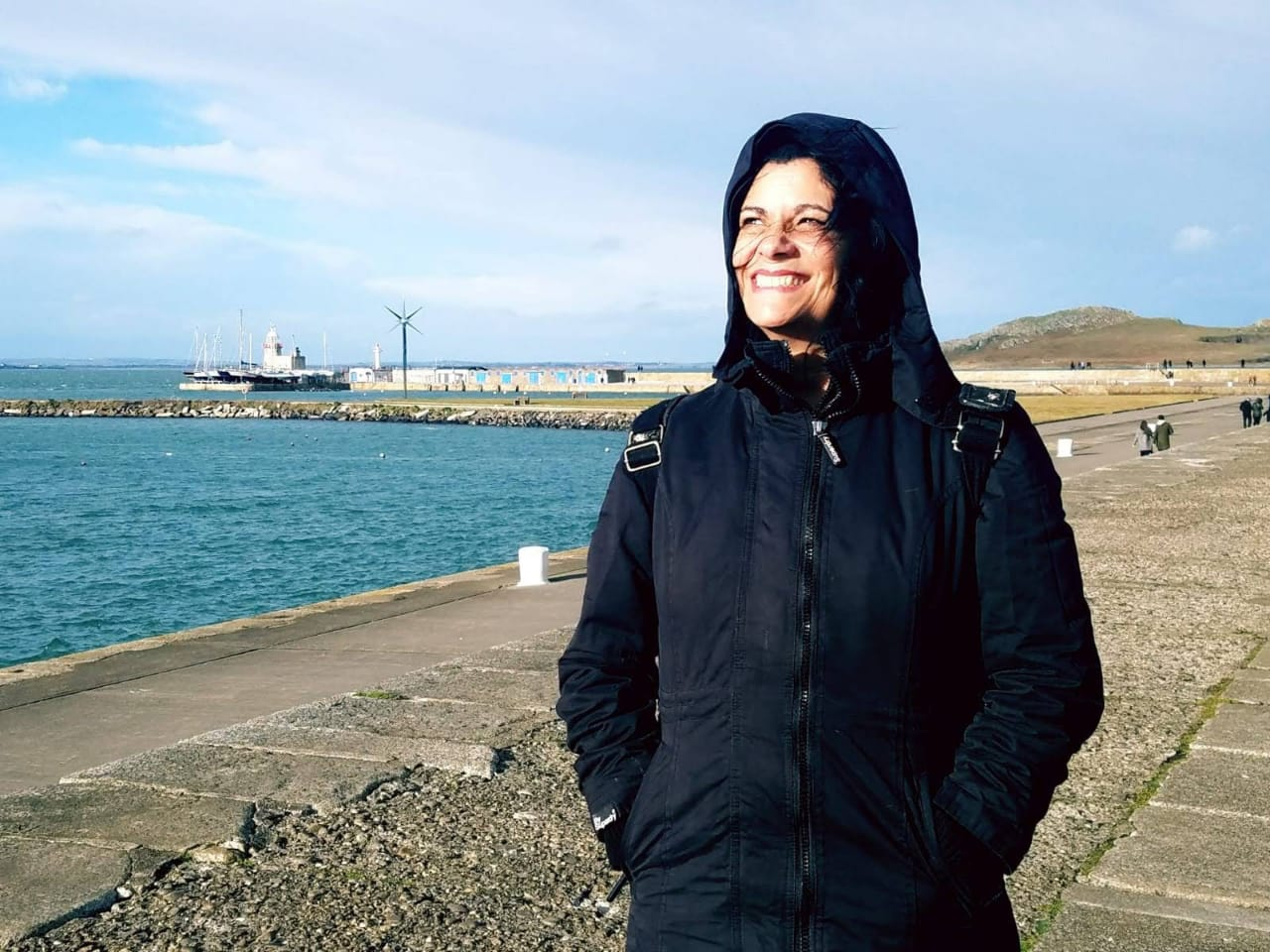 Lúcia enjoying her free time in Howth.
